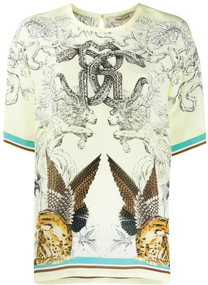 Roberto Cavalli Hybrids Animals print T-shirt