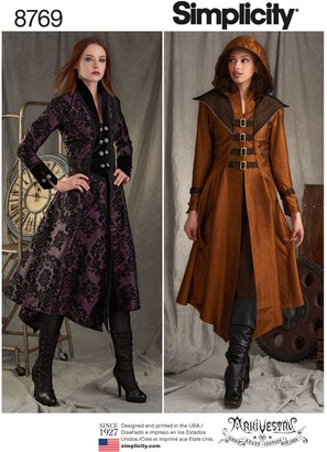 Simplicity Misses Military Costume Coats Sewing Patterns, 8769, R5