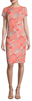 Carolina Herrera Jacquard Sheath Dress