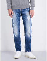 True Religion Distressed Iconic Geno Relaxed Slim-fit Straight-leg Jeans