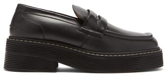 Marni Chunky Square-toe Leather Loafers - Black