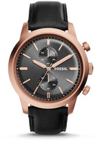 Fossil Townsman Chronograph Black Leather Watch