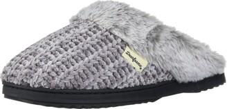 Dearfoams Women's Fairisle and Solid Chenille Knit Boot Slipper