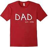 Women's 1st Father's Day T-Shirt - New Dad Shirt - Dad Est. 2016 XL