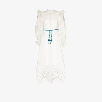 Zimmermann Carnaby scallop hem maxi dress