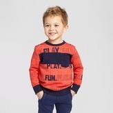 Cat & Jack Toddler Boys' Crewneck Sweatshirt Cat & Jack - Orange