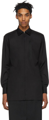 Random Identities Black Zip-Up Shirt