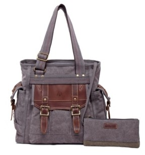 Tsd Brand Turtle Ridge Canvas Tote Bag
