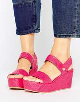 Love Moschino Stamp Wedge Sandals