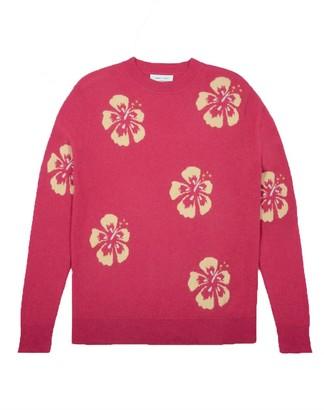 LERET LERET Hawaiian Flower Cashmere Crewneck Sweater