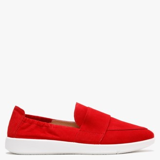 Legero Lucca Red Suede Chunky Sole Loafers
