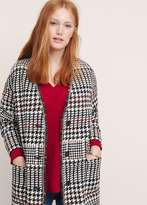 Violeta BY MANGO Houndstooth Cotton-Blend Coat