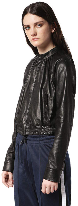 Diesel Black Gold Diesel Leather jackets BGRBM - Black - 36
