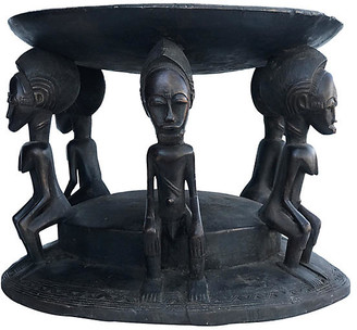 One Kings Lane Vintage Tanzanian Makonde Figural Stool/Table