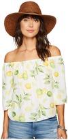 Kensie Lemon Tree Off Shoulder Top KS6U4009 Women's Clothing