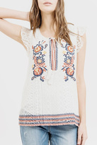 Blu Pepper Embroidered Lace Top