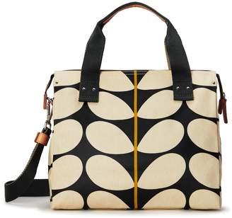 Orla Kiely Watson Messenger Bag, Black Solid Stem