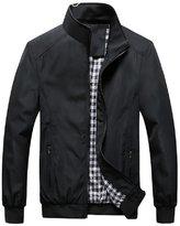 Shuoquan Men's Waterproof Softshell Jackets Active Rain Jacket S
