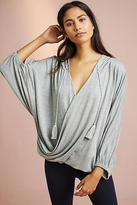 Anthropologie Surplice Hooded Poncho Pullover