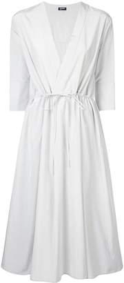 Jil Sander Navy flared midi dress
