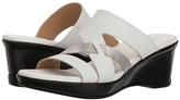 Naturalizer Vivy (White Leather Metallic) Women's Sandals