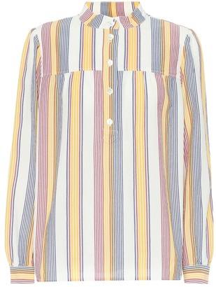 A.P.C. Loula striped cotton blouse