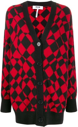 MSGM graphic print cardi-coat