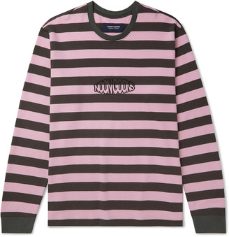Noon Goons Jalama Logo-Embroidered Striped Cotton-Jersey T-Shirt