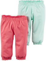 Carter's Baby Girls' 2-Pack Hello Cutie Ruffle-Waist Pants