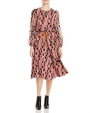 Marella Filing Long Sleeve Midi Dress