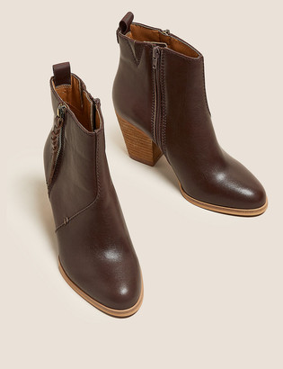 Marks and Spencer Leather Western Ankle Boots