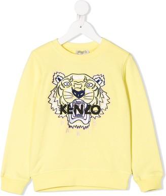 Kenzo Kids Logo Embroidered Sweatshirt