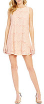 Copper Key Sleeveless Lace Trapeze Dress