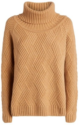 Harrods Cashmere Cable-Knit Rollneck Sweater