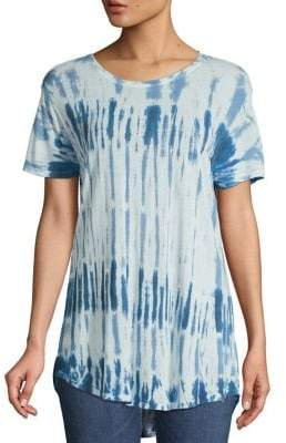 Lord & Taylor High-Low Tie-Dyed Tee