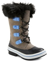 Girls' Nadia Suede Fur Top Winter Boots Cat & Jack - Grey