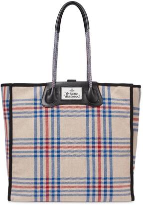 Vivienne Westwood Elena Folded Recycled Tartan Shopper