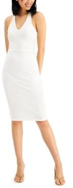 Almost Famous Juniors' Crisscross-Back Slim Dress