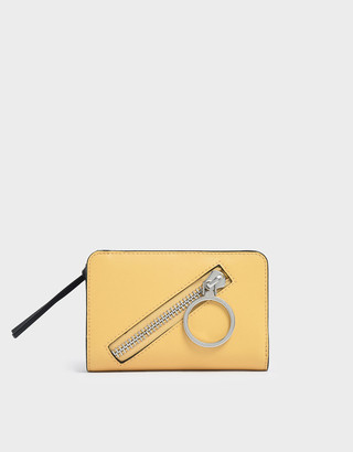 Charles & Keith Ring Detail Zip Around Small Wallet