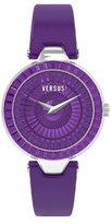 Versus By Versace Women's 3C72100000 Sertie Purple Dial Textured Glass Bezel Genuine Leather Watch