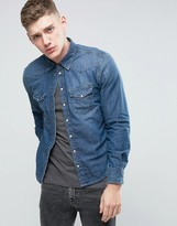 Pepe Jeans Pepe Carson Slim Fit Shirt Dark Worn Wash