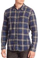 True Religion Indigo Plaid Western Shirt