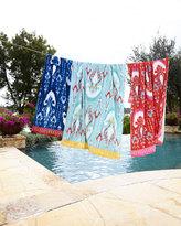 John Robshaw Vaya Aqua Beach Towel