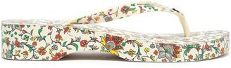 Tory Burch Embellished Printed Pvc Platform Flip Flops