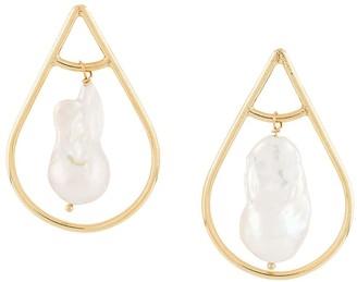 Magda Butrym pearl tear drop earrings