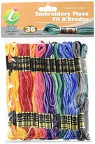 Iris Variegated 5-Strand Embroidery Skeins, 100 Percent Cotton, Multi-Colour, 8 m, Pack of 36