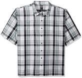 Dickies Men's Big and Tall Yarn Dyed Short Sleeve Camp Shirt 6X
