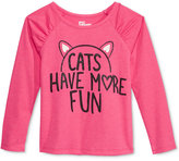 Epic Threads Little Girls' Mix and Match Cats Graphic-Print Long-Sleeve T-Shirt, Only at Macy's