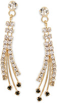 Betsey Johnson Gold-Tone Crystal and Stone Spray Drop Earrings