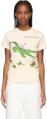 Lanvin Beige Babar Edition 'Book Of Colors' Alligator T-Shirt